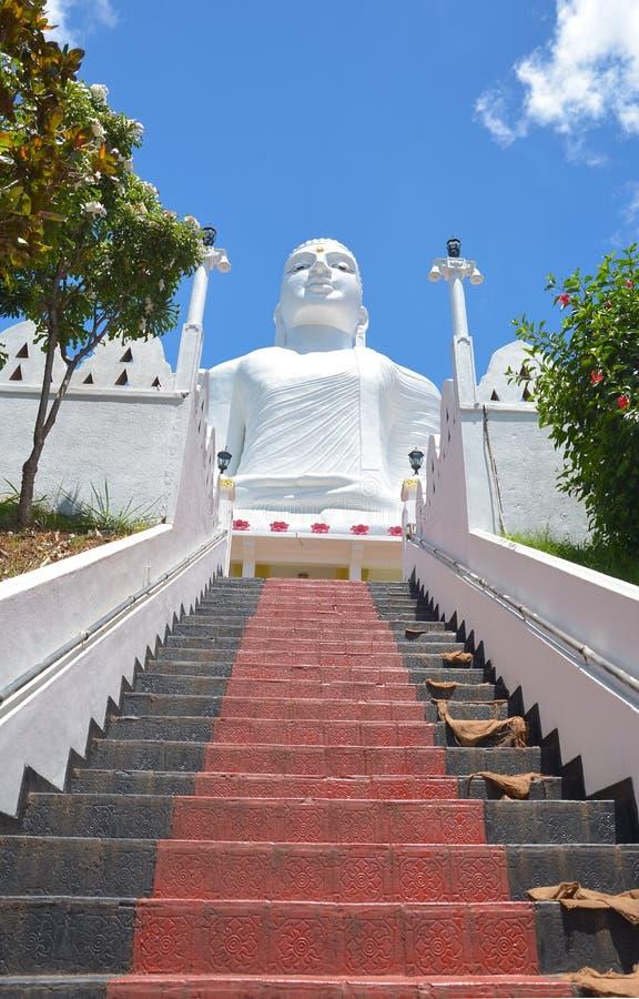 在Bahirawakanda,康提的Sri玛哈Bodhi寺庙 免版税库存照片