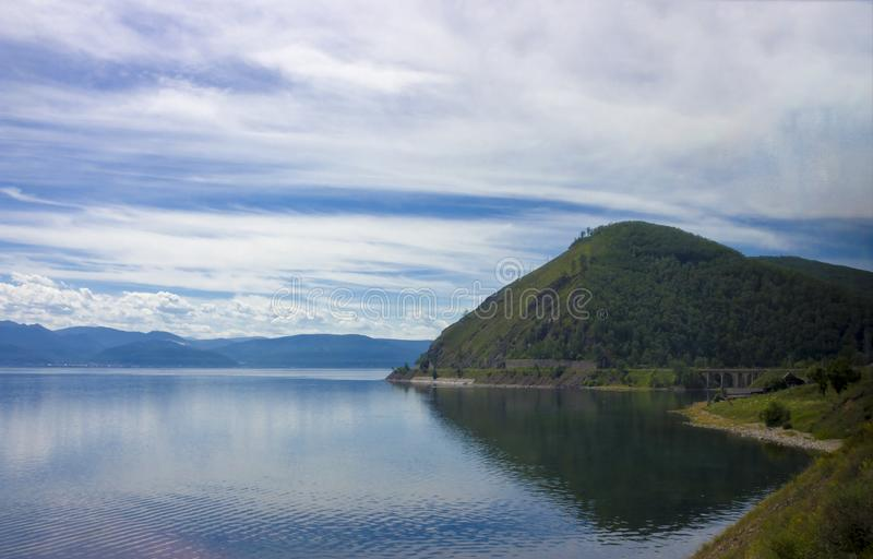 在Baikal湖的夏天视图 库存照片