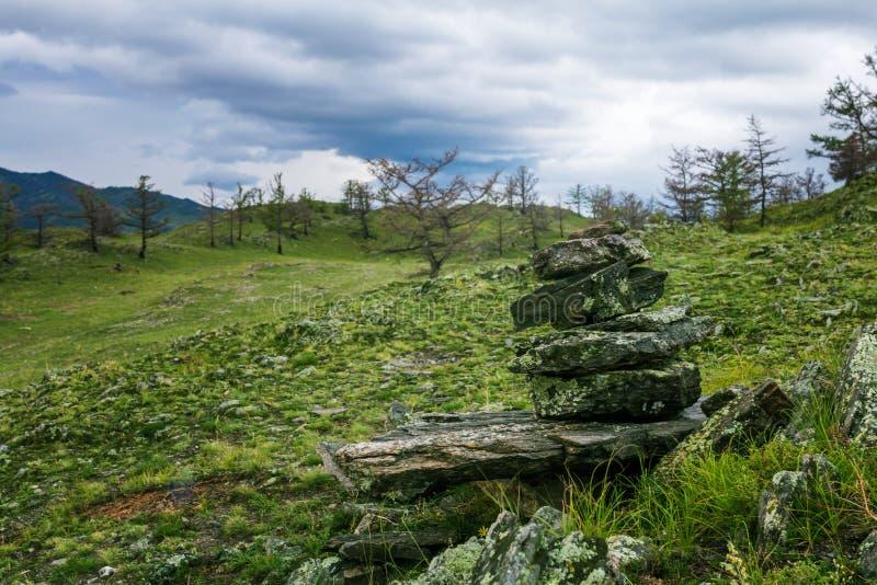 在Baikal湖的风暴 免版税库存图片
