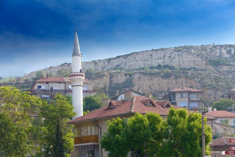 在Balchik的罗马尼亚女王城堡,保加利亚 库存照片