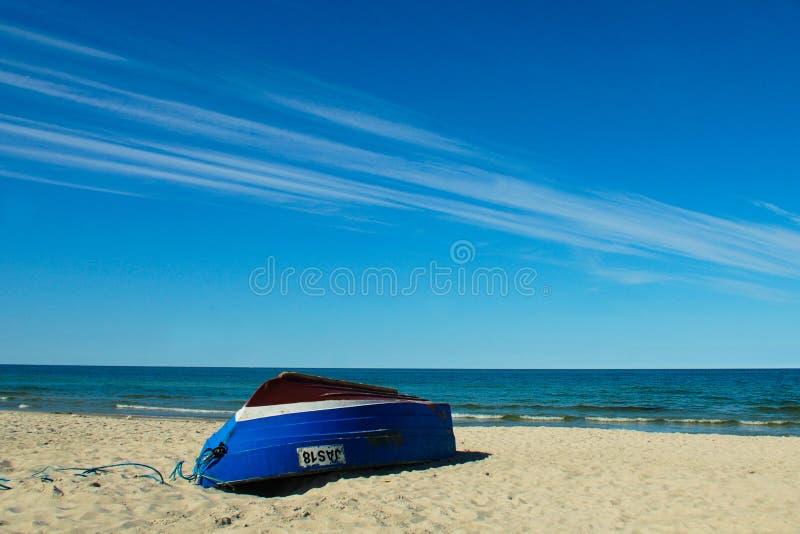 在Balitic海的小船 图库摄影