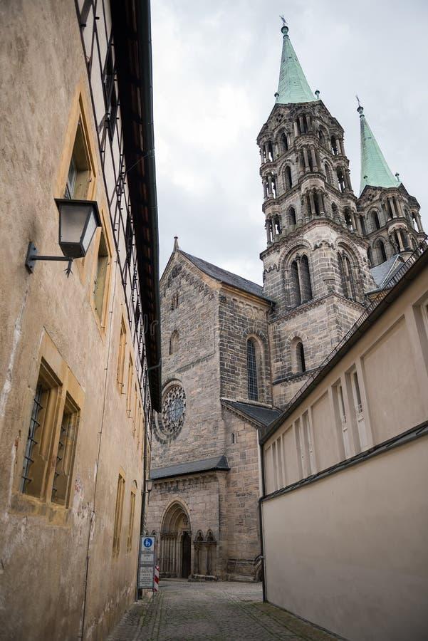 在Bamberger大教堂的后面看法,德国 库存照片