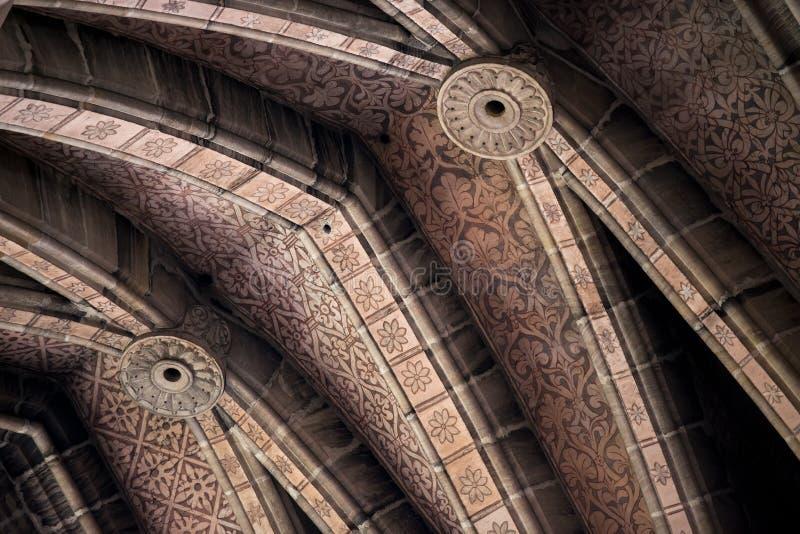 在Bamberger大教堂的天花板花卉装饰 免版税库存图片