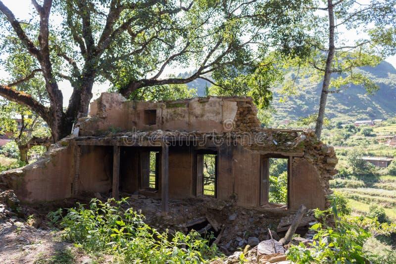 在Bandipur的废墟在尼泊尔 免版税图库摄影