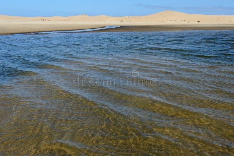 在Barra de Valizas的海岸 库存照片
