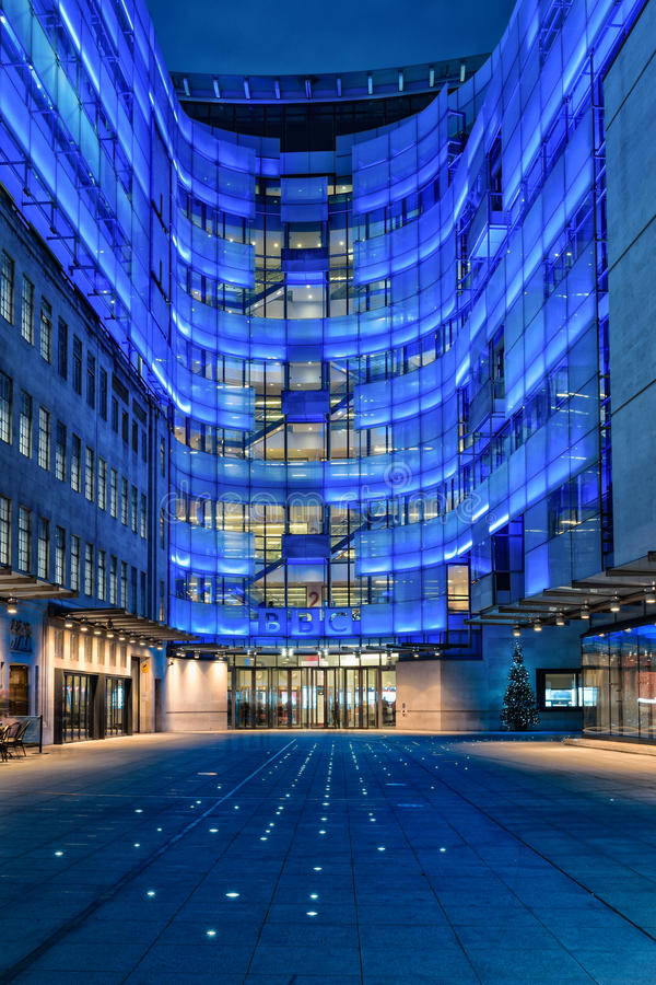 在BBC的圣诞树装饰 图库摄影