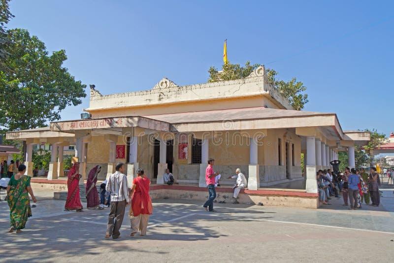 在Bhalka蒂尔塔,古杰雷特的Shri克里希纳寺庙 库存图片