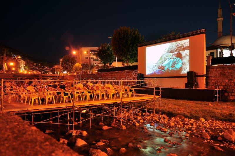 在Bistrica河的河戏院 免版税库存照片