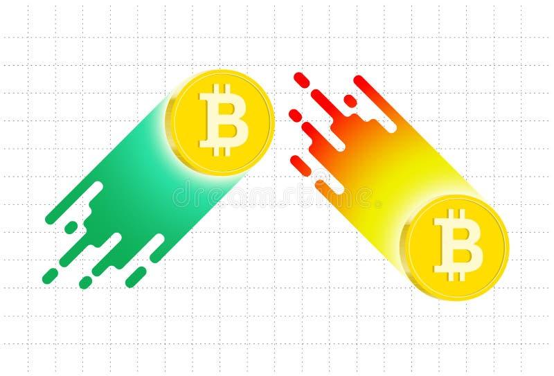 在bitcoin趋向上下 也corel凹道例证向量 向量例证