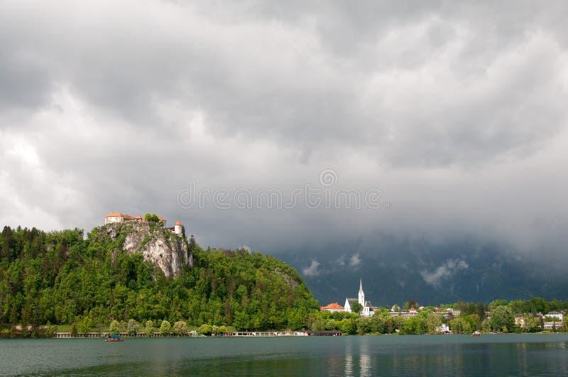 在Bled城堡的看法 免版税库存照片