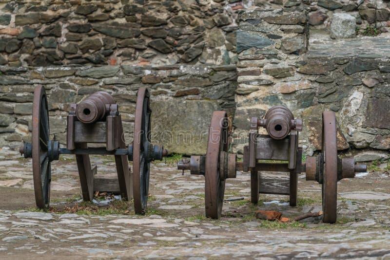 在Bolkow城堡的老大炮 图库摄影