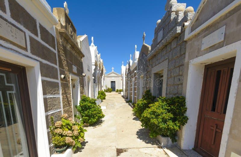 在Bonifacio里面海洋公墓,可西嘉岛 免版税图库摄影