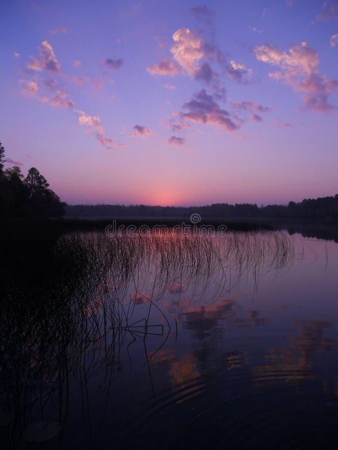 在Boot湖的日出 库存照片