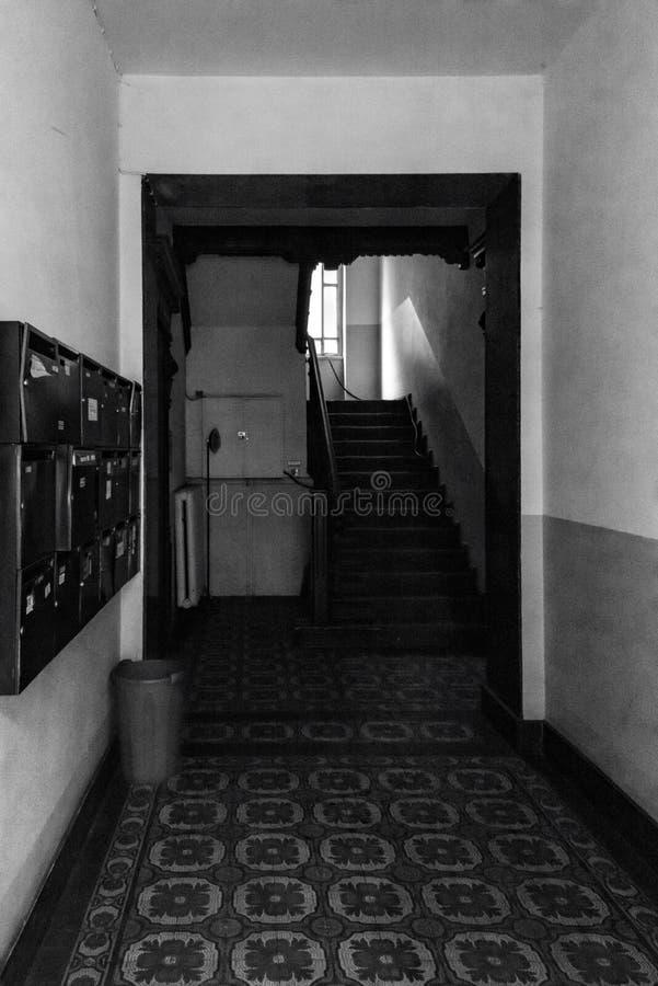 在Bowie ` s家02,弗里德里希斯海因-柏林07 2018年 库存照片