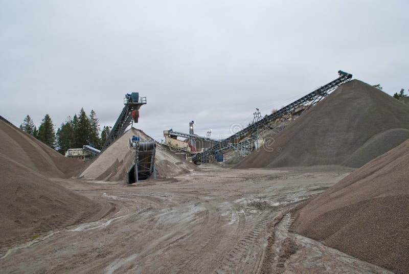 在brekke的巨大的石渣堆挖掘,堆2 库存图片