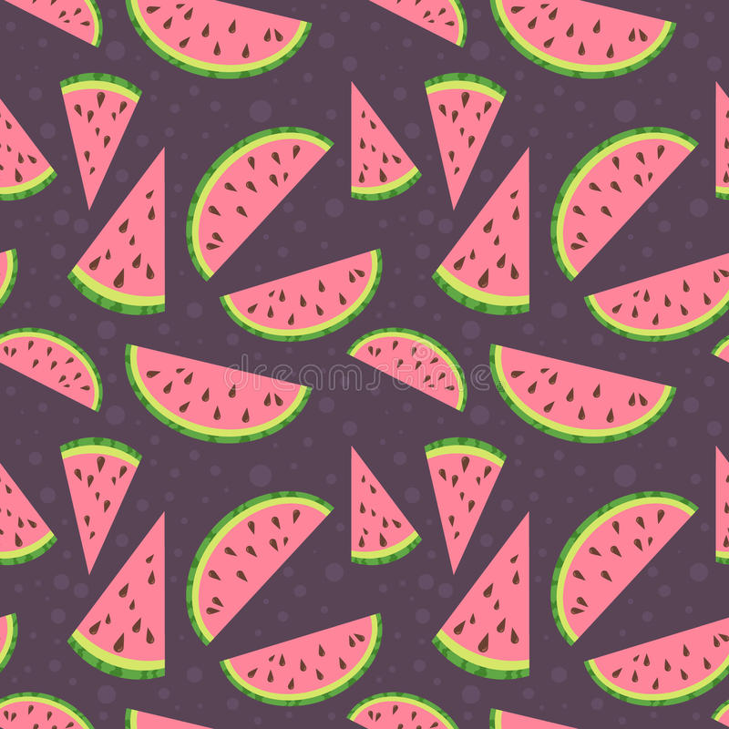 在bro的西瓜传染媒介五颜六色的无缝的样式 库存例证