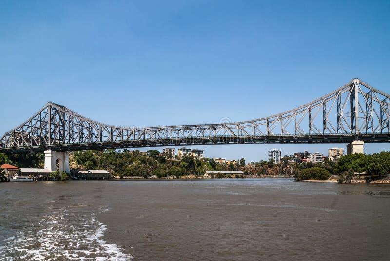 在Brusbane河,澳大利亚的故事桥梁 免版税图库摄影
