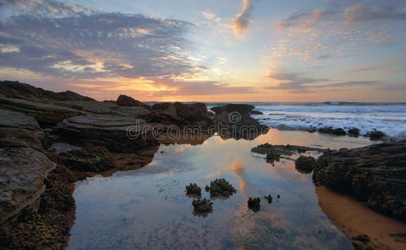 在Bungan海滩的清早 图库摄影