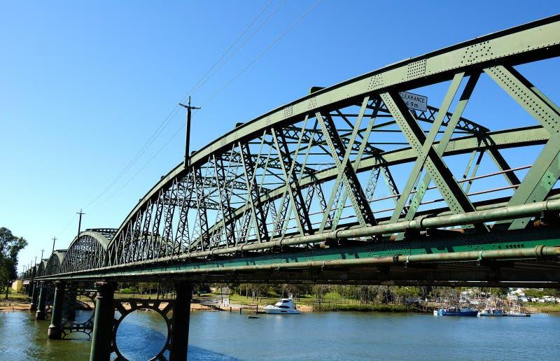 在Burnett河的班达伯格桥梁 免版税库存图片