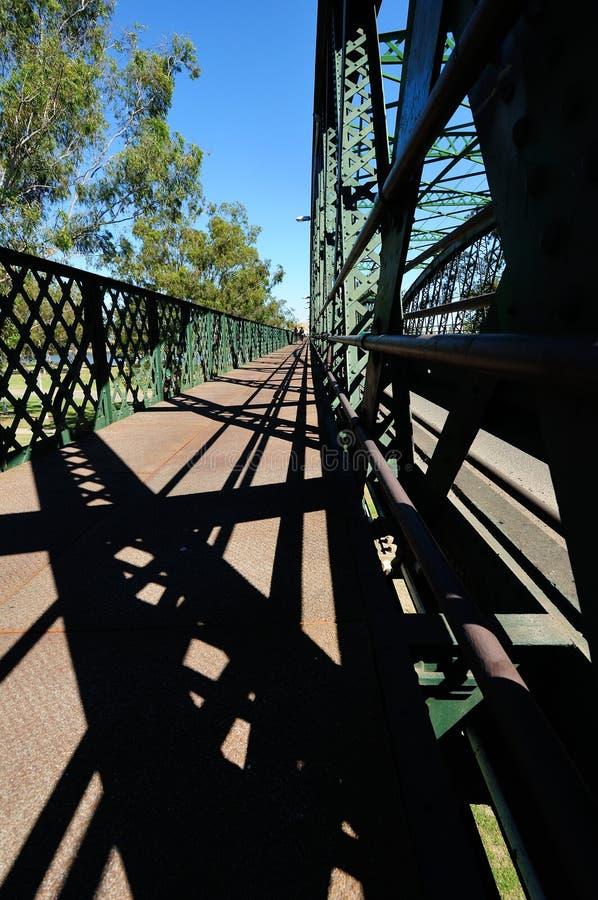 在Burnett河a的班达伯格桥梁 免版税库存照片