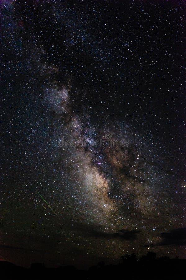 在Canyonlands的银河 库存照片