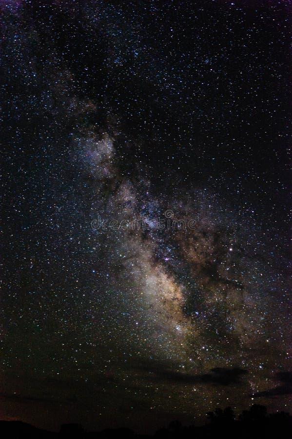 在Canyonlands的银河 免版税库存图片
