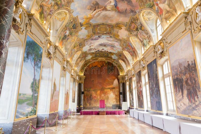 在Capitole的Salle des Illustres图卢兹 免版税库存照片