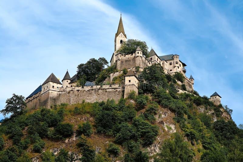 在Carinthia的城堡Hochosterwitz 免版税库存照片