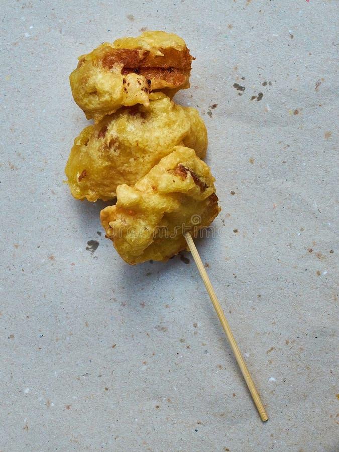 在carrozza的无盐干酪在一张土气纸 库存图片
