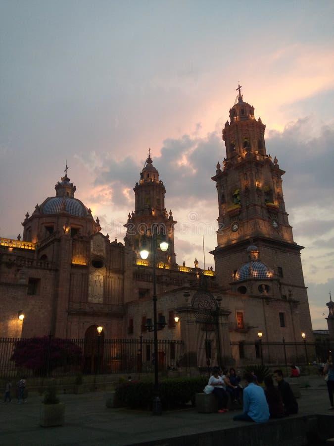 在catedral的日落 库存图片