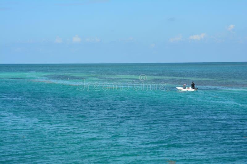 在Caye填缝隙工海岛伯利兹上的分裂海滩 库存照片