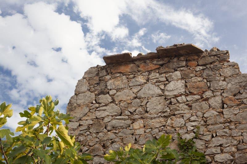 在centar vilage的老石墙 库存照片
