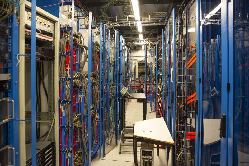 在CERN的大强子碰撞 免版税库存照片