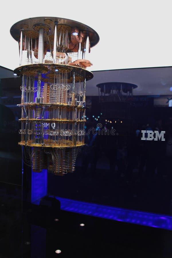 在CES的IBM Quantum计算机2019年 图库摄影