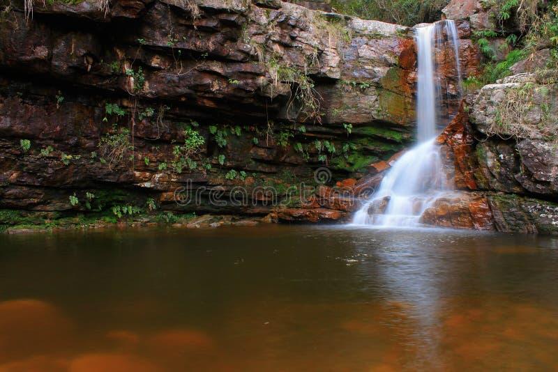 在Chapada Diamantina的洗净瀑布 免版税库存照片