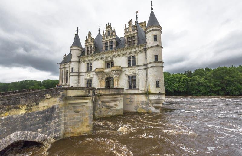 在Chenonceau城堡的看法 库存照片