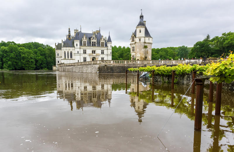 在Chenonceau城堡的看法 库存图片