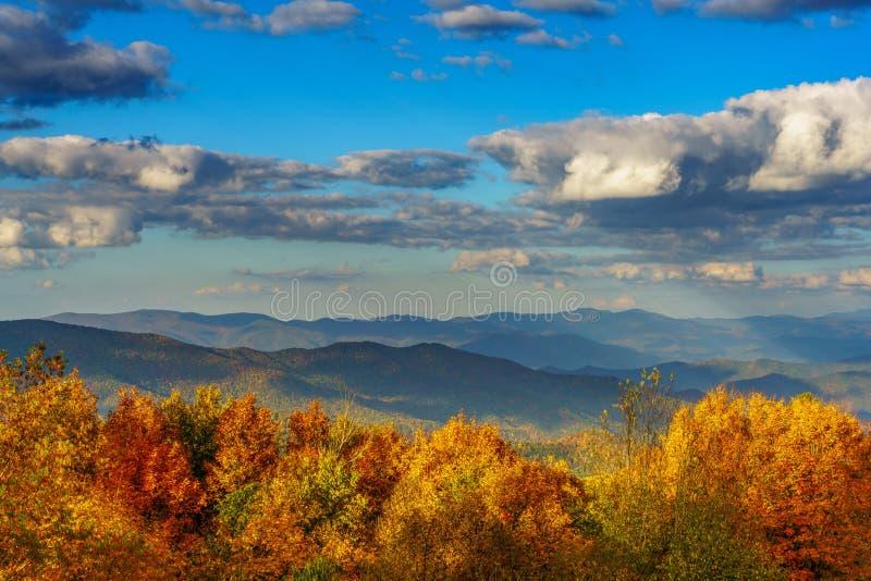 在Cherohala Skyway的秋天 库存图片