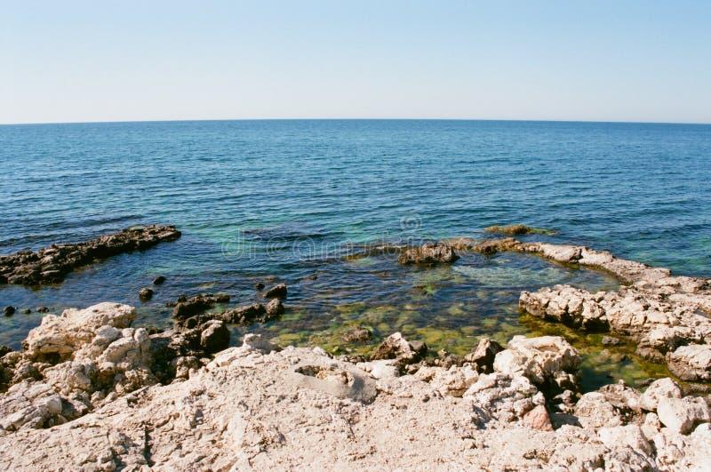 在Chersonese复合体的海边 免版税库存照片