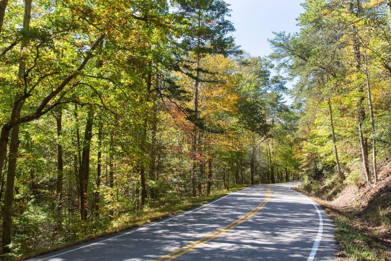 在Cherula Skyway的秋天 免版税库存照片
