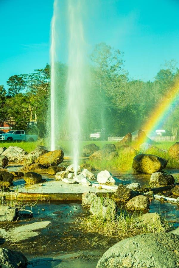 在Chiangmai省的Sankamphaeng温泉 免版税库存照片