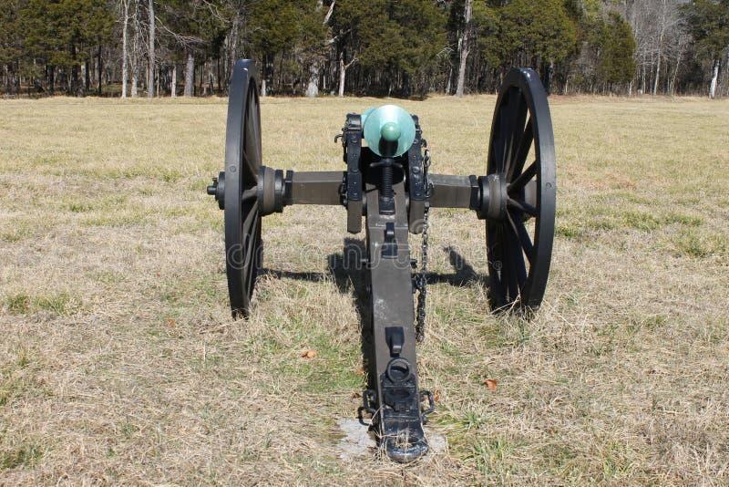 在Chickamauga和加得奴加Natonal军事公园的大炮 库存图片