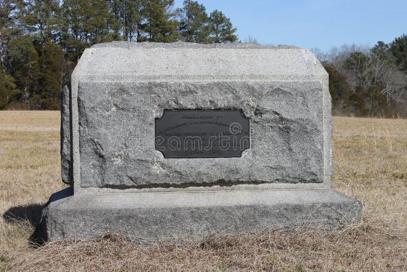 在Chickamauga和加得奴加Natonal军事公园的石头 免版税库存图片