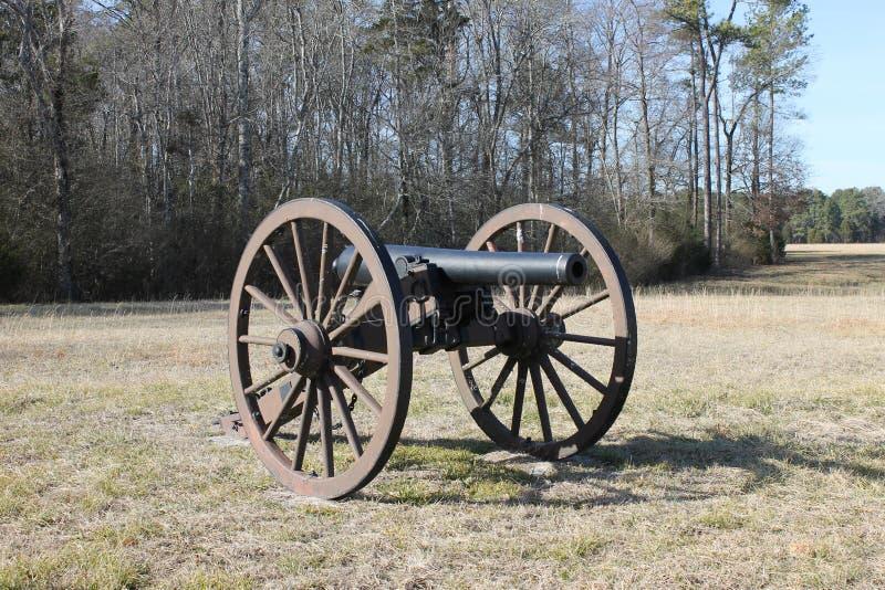 在Chickimauga军事公园的大炮 免版税库存图片