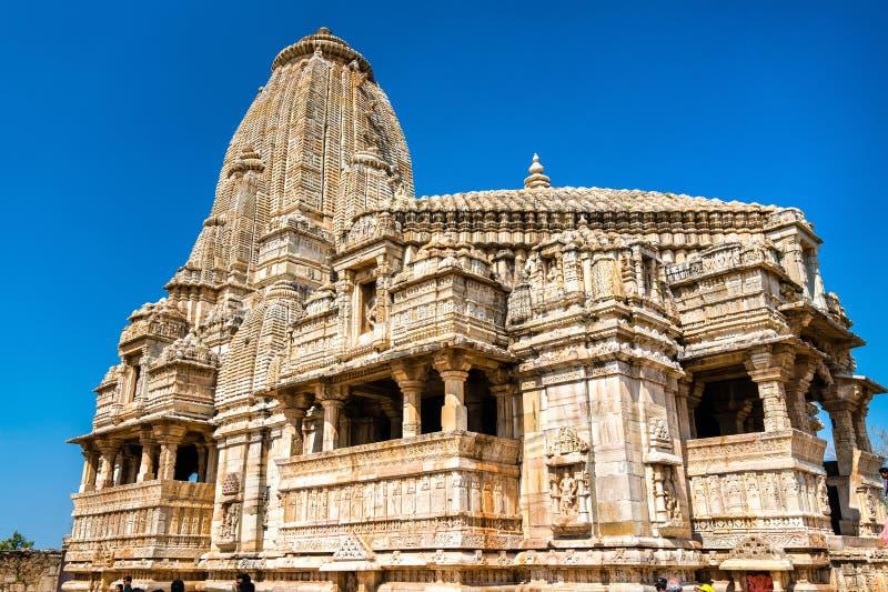 在Chittor堡垒的Meera寺庙 拉贾斯坦,印度 免版税库存照片