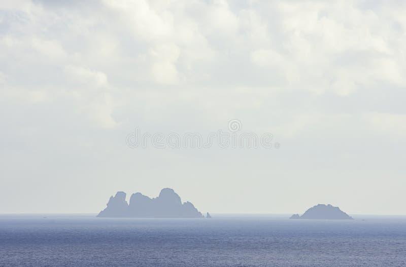 在Chumphon的天空在海和酸值Ngam的秀丽在泰国 图库摄影
