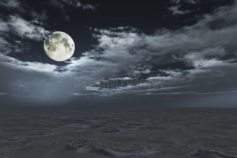 在cloudscape的满月 库存照片