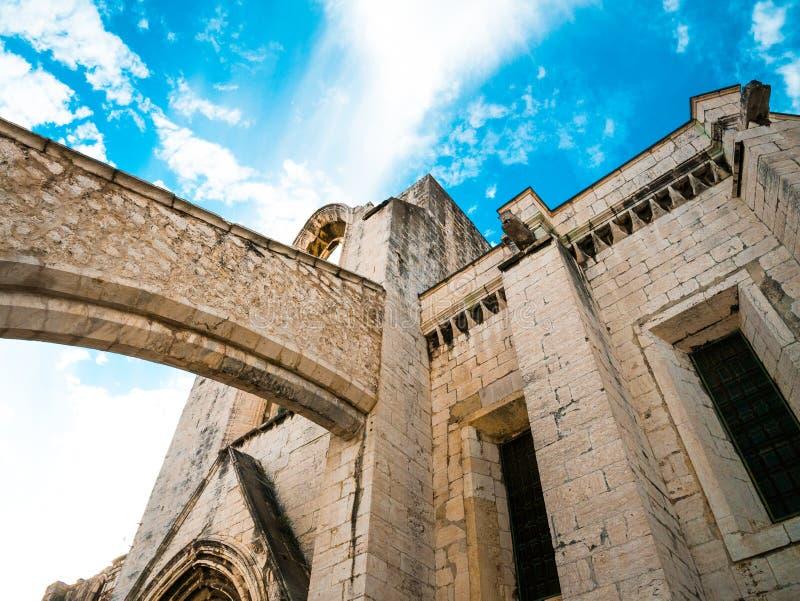 在Convento的曲拱的细节做卡尔穆里斯本 免版税图库摄影