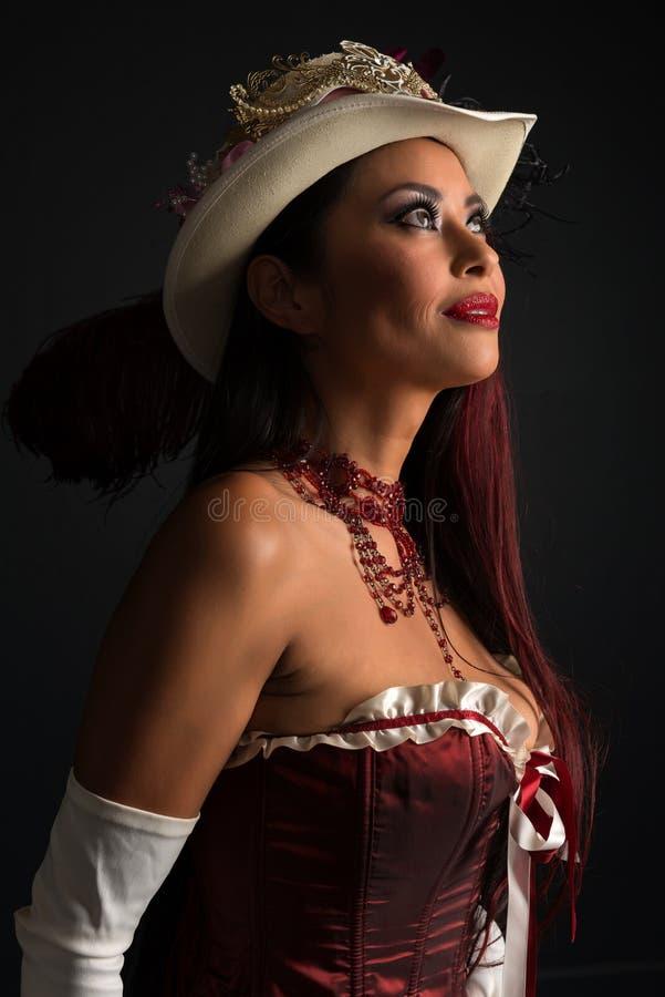 在cosplay的红头发人 库存照片