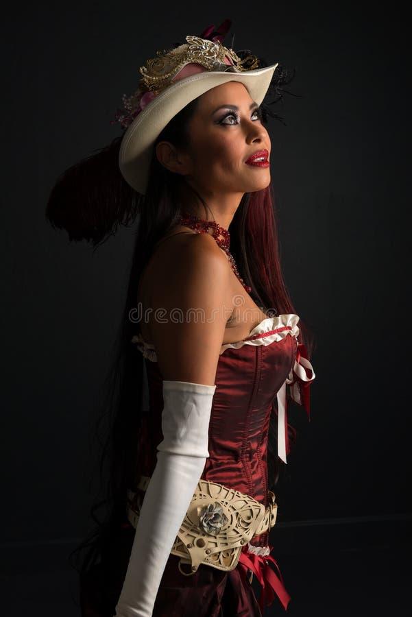 在cosplay的红头发人 库存图片